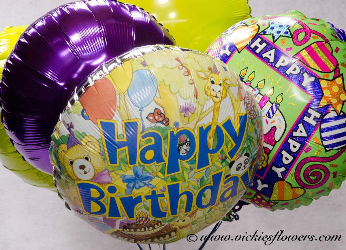 Happy Birthday Flowers And Balloons ~ Birthday anniversary thank you congratulations vickies flowers