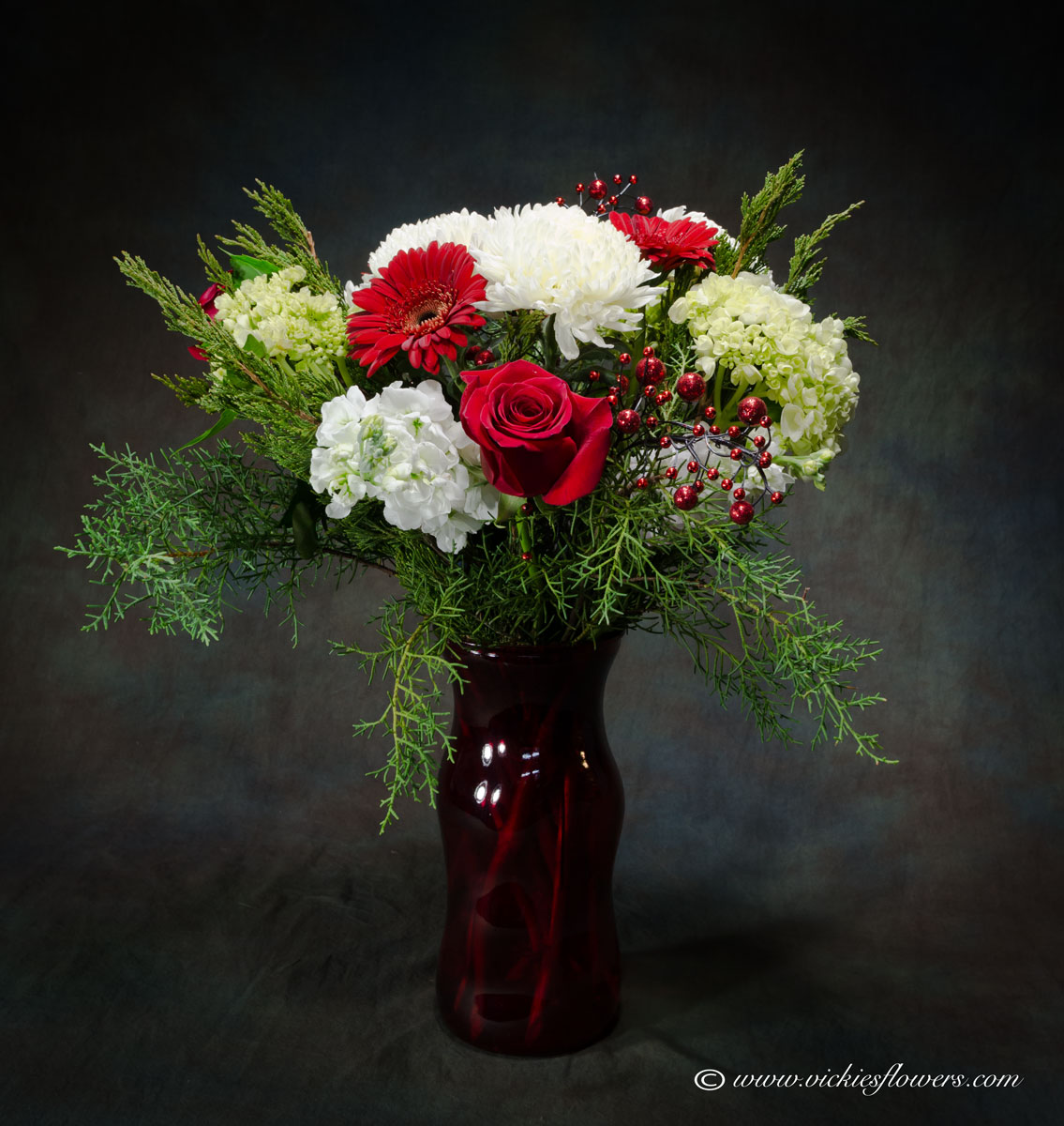 Christmas Holiday Flowers| Candle Centerpieces | Vickies Flowers ...