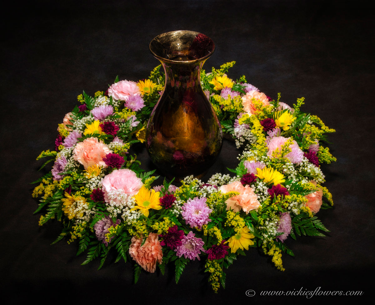 Cremation urn funeral flowers vickies flowers brighton co cremation funeral flowers 021 275 plus tax and delivery gorgeous and traditional red rose wreath for an urn this wreath includes white candles that can dhlflorist Choice Image