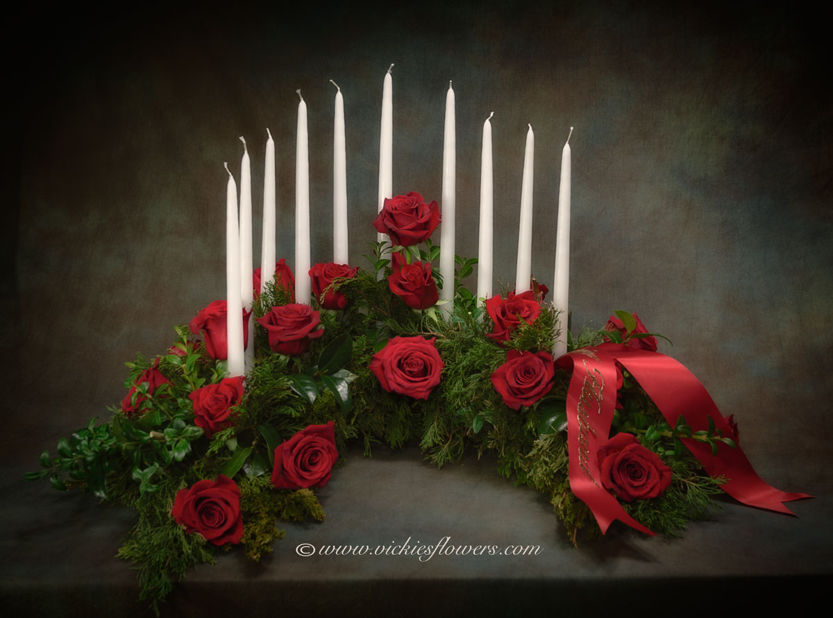Cremation urn funeral flowers vickies flowers brighton co florist cremation funeral flowers 021 275 plus tax and delivery gorgeous and traditional red rose wreath for an urn this wreath includes white candles that can izmirmasajfo