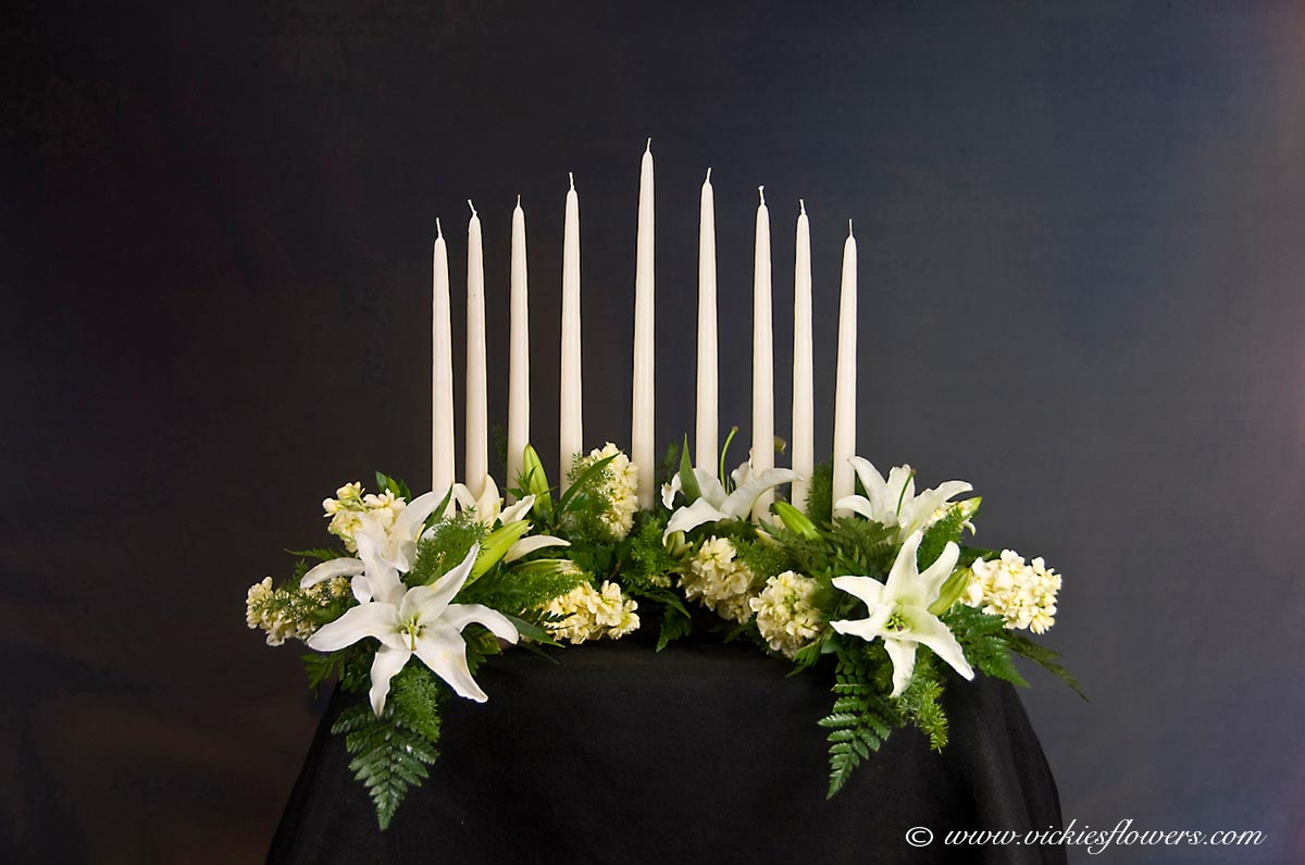 Memorial Candles With Funeral Flowers – Thin Blog