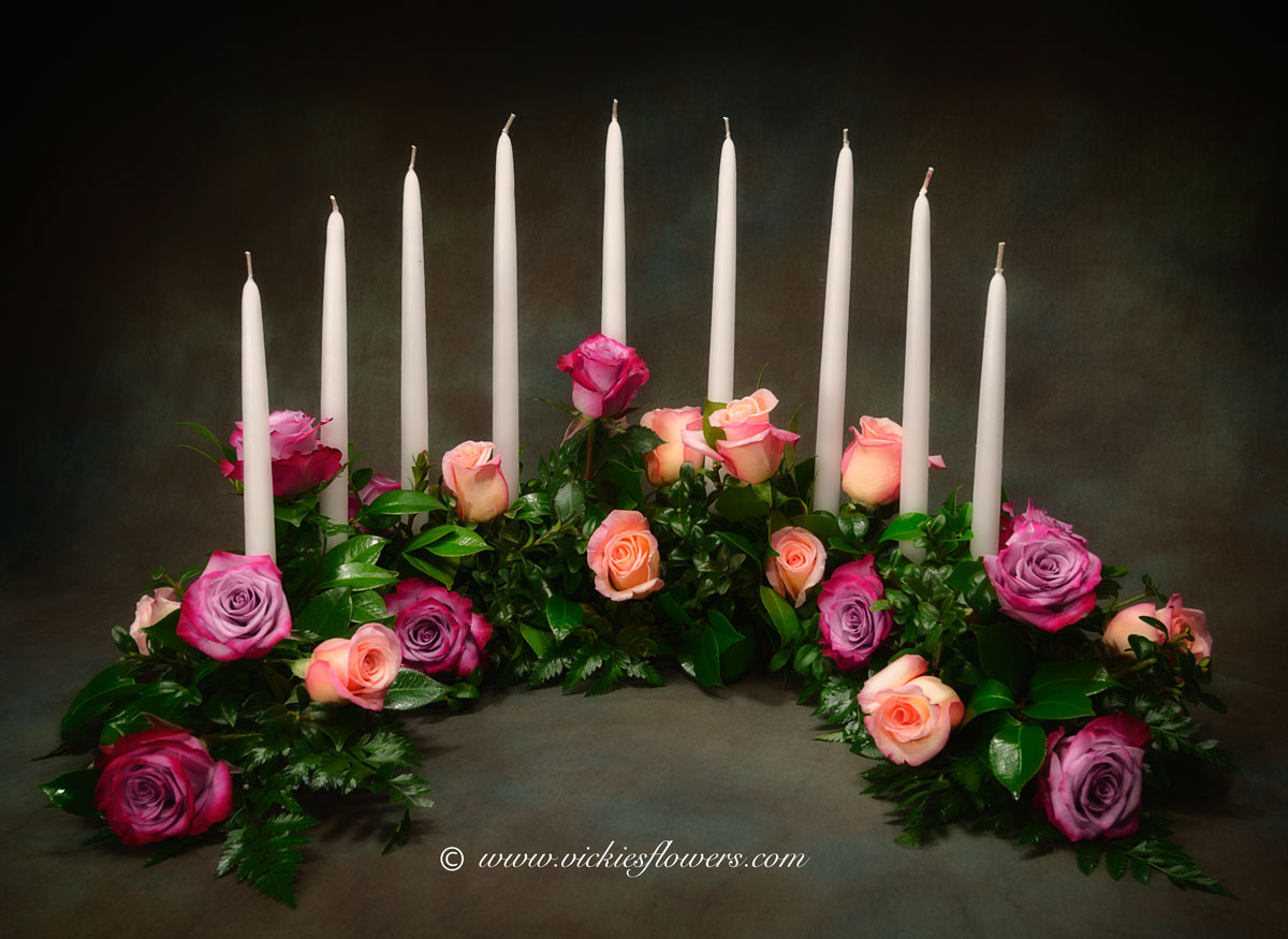 Cremation urn funeral flowers vickies flowers brighton co florist cremation funeral flowers 035 275 plus tax and delivery beautiful cremation mixed rose wreath with white candles candles can be lit during memorial izmirmasajfo