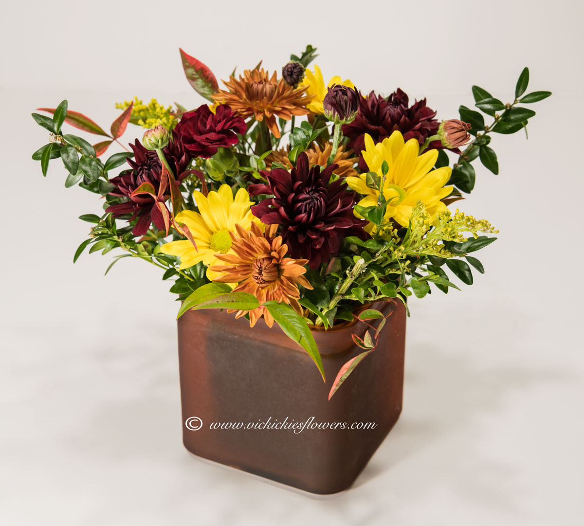 Fall Thanksgiving Flowers Candle Centerpieces Vickies Flowers