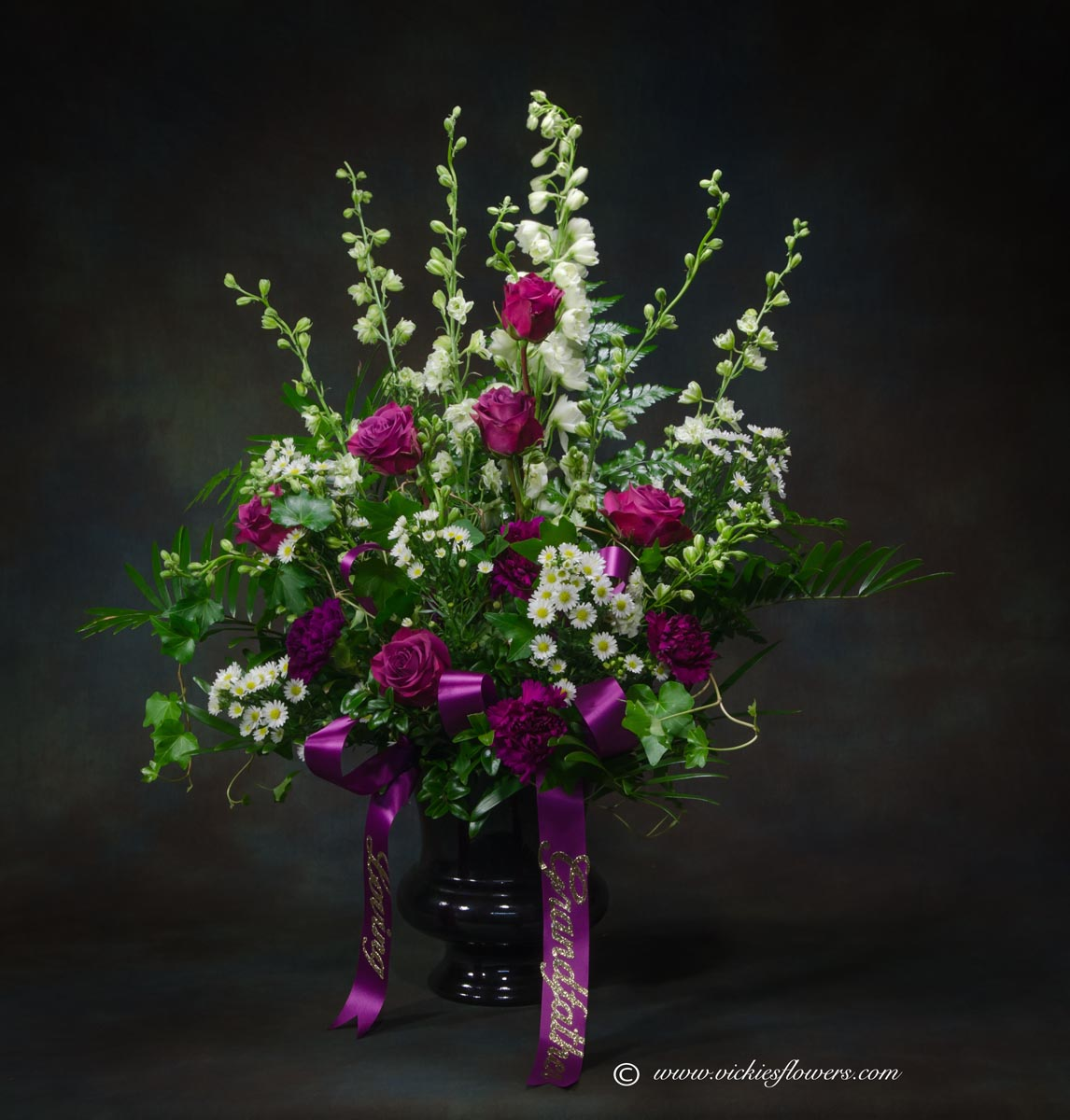 Funeral sympathy flowers archives vickies flowers brighton co funeral sympathy flowers 046 150 plus tax and delivery beautiful and elegant purple izmirmasajfo