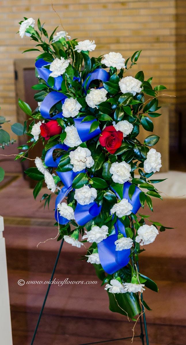 Funeral Crosses Standing Sprays Vickies Flowers Brighton Co Florist
