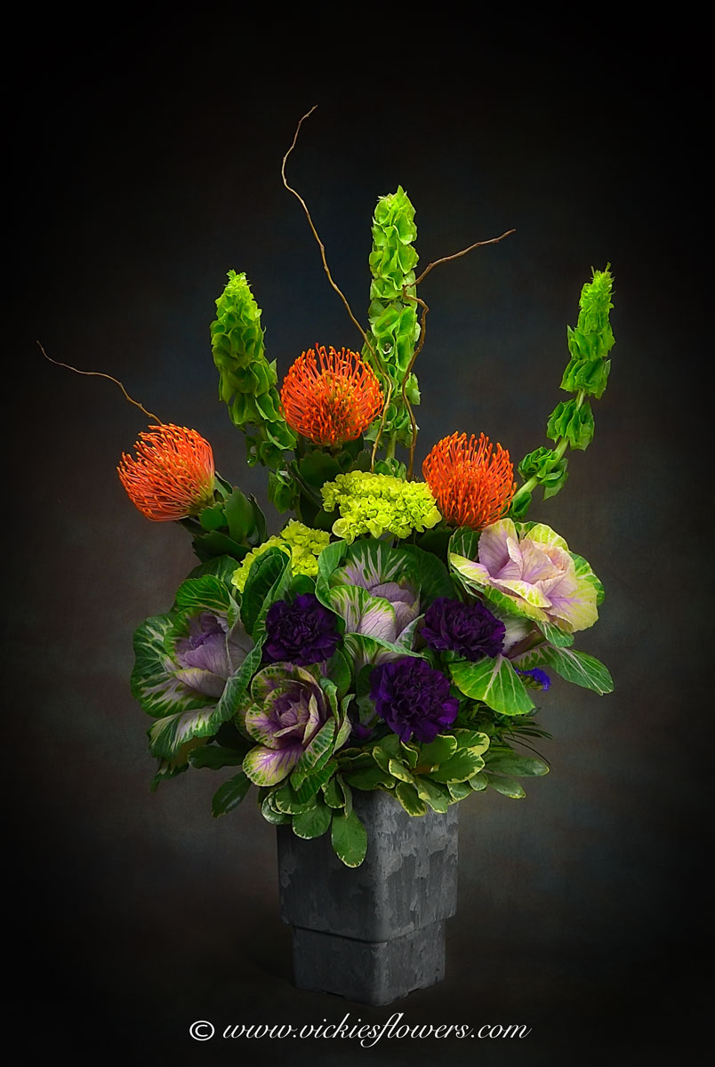 Ikebana asian flower arrangements vickies flowers brighton co ikebana oriental flowers ib 031 125 plus tax and delivery large tall ikebana inspired floral arrangement with orange pin cushion protea izmirmasajfo