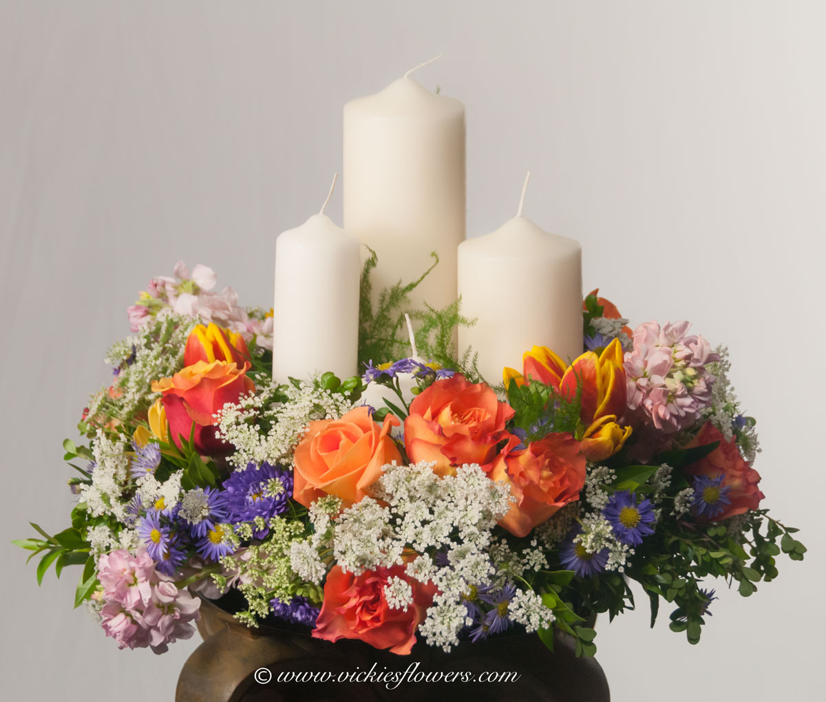 Funeral Flowers With Candles Flowers Healthy