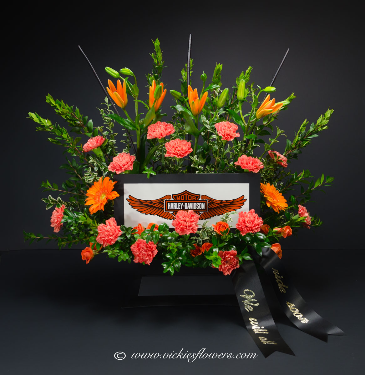 Harley Davidson Funeral Flowers Best Image Of Flower Mojoimage