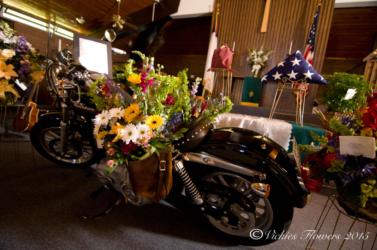 Broncos Harley Funeral Flowers Vickies Flowers Brighton Co Florist